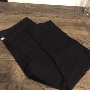 Lululemon Wunder Under Crop Black luon 6